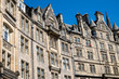 canvas print picture - Typical victorian buildings in Edinburgh