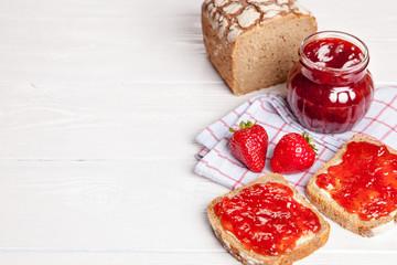 Delicious strawberry jam