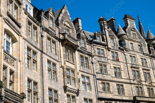 canvas print picture Typical victorian buildings in Edinburgh