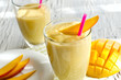 Leinwandbild Motiv Healthy mango smoothie to drink  horizontal