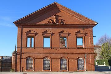 villaverla mattoni edificio antico