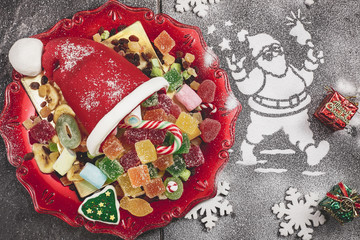 Christmas candy dessert