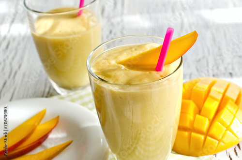 Healthy mango smoothie to drink  horizontal - 70679490
