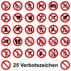 25 Verbotszeichen - 3D Set