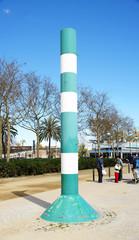 Poste indicador de vientos en la Nova Icaria, Barcelona