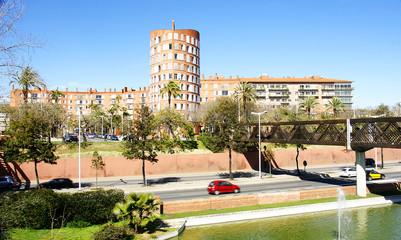 Panorámica de la Ronda del Litoral en Barcelona