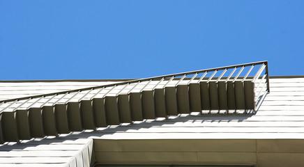 Detalle arquitectura en un moderno edificio, Barcelona