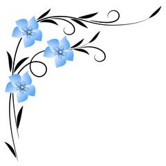 Corner floral ornament