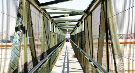 Puente provisional en las obras del tren de alta velocidad,