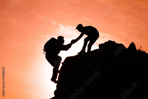 Plexiglas Alpinisme dağcı motivasyonu&dağcı beraberliği
