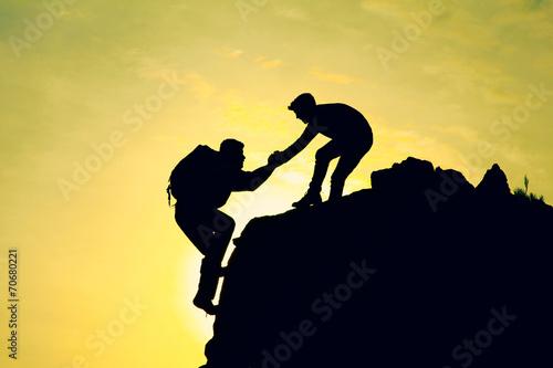 Fotobehang Alpinisme destek olmak