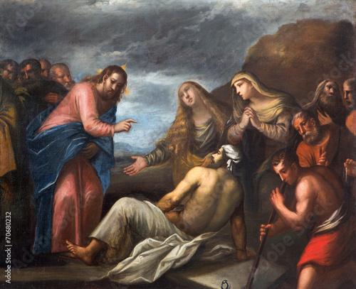 Padua - Paint of the Resurrection of Lazarus scene