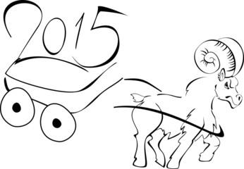 Ram symbol of the new year