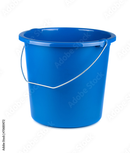 Leinwanddruck Bild Empty blue bucket