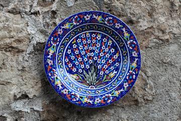 Blue decorative plate