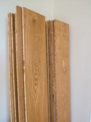 Wooden floor boards