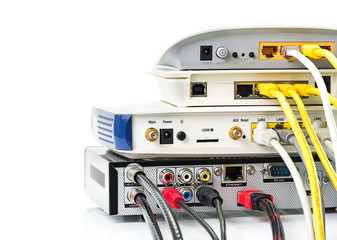 Modem router network hub