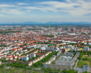 Aerial view of Munich. Munich, Bavaria, Germany