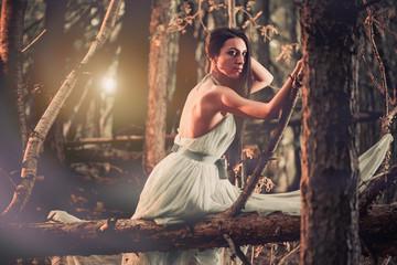 dark forest portrait