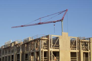 New apartment crane under construction