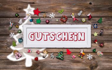 Gutschein zu Weihnachten als Geschenk