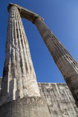 Historical column in Apollon temple from Didyma Turkey