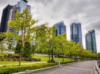 Vancouevr skyline near Stanley Park