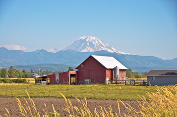 Red Barn and Rainier
