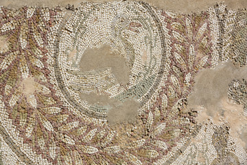 ancient remains of a mosaic of Carthage