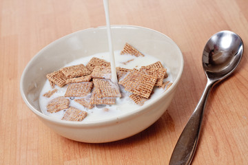 Malted squares and milk