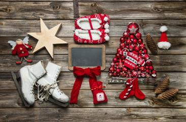 Weihnachtliches Schild oder Karte beschriftbar als Gutschein