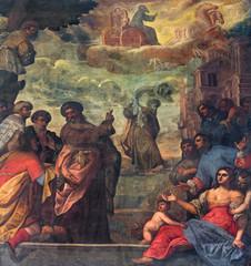 Padua - Prophet Elijah  ascend to heaven in a chariot cf fire
