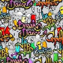 Caractères Graffiti, seamless