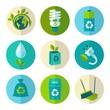 Ecology and waste flat icons set - 70687075