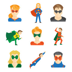 Superhero icon flat