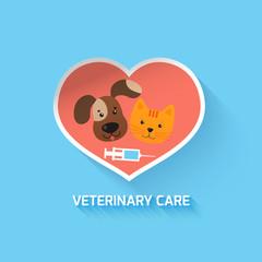 Veterinary heart symbol