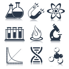 Physics Science Icons
