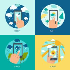 Weather smart phone set