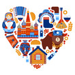 Russia travel heart set - 70687655