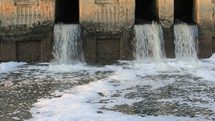 HD Waste water to small canal
