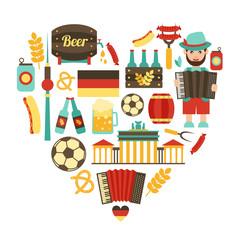 Germany travel heart set