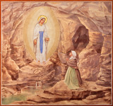 Padua - The paint of the Apparitioin of Virgin Mary in Lourdes - 70687892