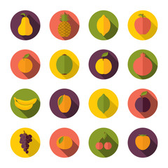 Set of fruits icons
