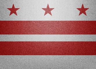 District of Columbia denim flag