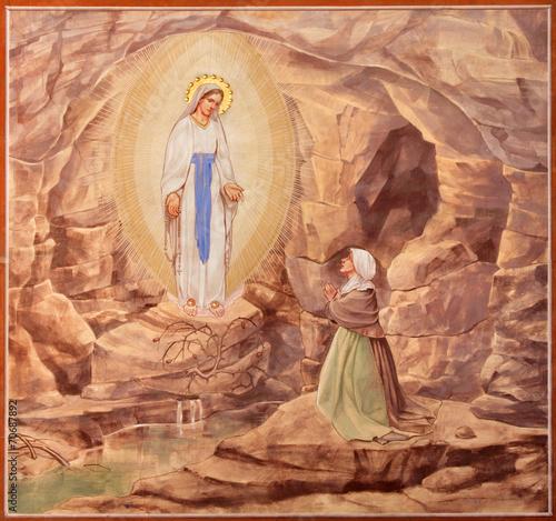 Naklejka Padua - The paint of the Apparitioin of Virgin Mary in Lourdes