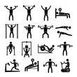 Workout Training Icons Set