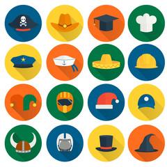 Hat Flat Icons