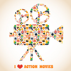 Action movie camera