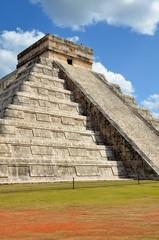 Chichen Itza Kukulkan temple pyramid Mexico