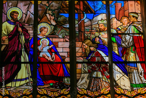 Epiphany Stained Glass in Tours Cathedral - 70688416